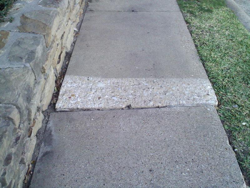 Concrete Sidewalk Grinding : Walkwaygrindingtexasservices